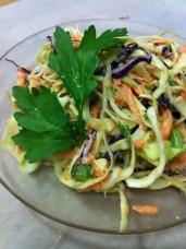 raw vegan rainbow pad thai!